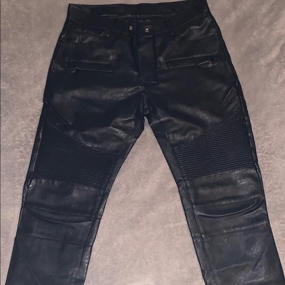 fast delivery exclusive deals wholesale Balmain Leather Biker Jeans